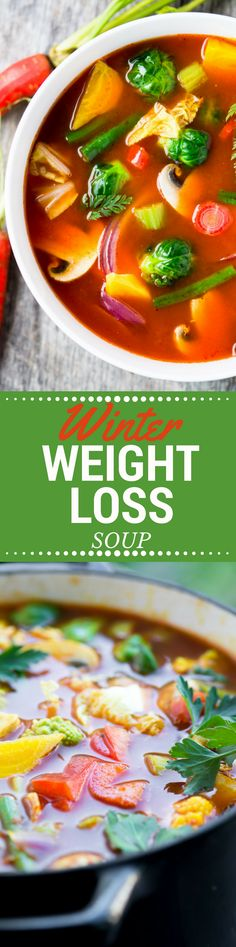 Winter Weight Loss Soup ~ This isn't the dreaded cabbage soup diet in disguise, I promise!  This soup is near and dear to my heart, I turn to it whenever I feel like the pounds are creeping up on me.  It's my 'real food' way to get back on track with healthier eating, without resorting to pills or gimmicks. #ad #Swanson