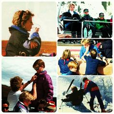 """28 March 1994: Princess Diana takes her little boys on a ski holiday in Lech, Austria ☆"