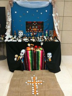 Dia de los Muertos altar - patrons or students can contribute remembrances