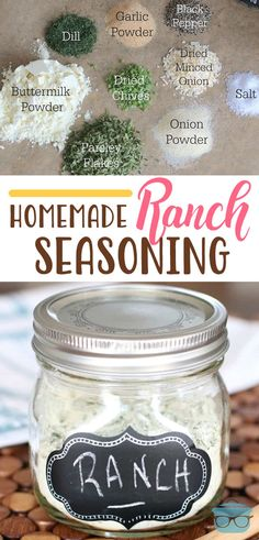 Homemade Ranch Seasoning is a dry powder mix. Control all the ingredients that go into your ranch dressing or into recipes that call for a packet of ranch. Dry Ranch Seasoning, Homemade Ranch Seasoning, Seasoning Mixes, Seasoning Recipe, Homemade Ranch Mix, Homemade Dry Mixes, Dry Ranch Dressing Mix, Buttermilk Ranch Dressing, Ranch Dressing Powder Recipe