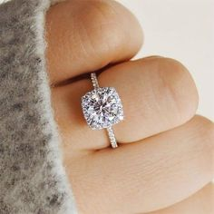 Classic AAA White Cubic Zircon Ring - 9 7 / Silver