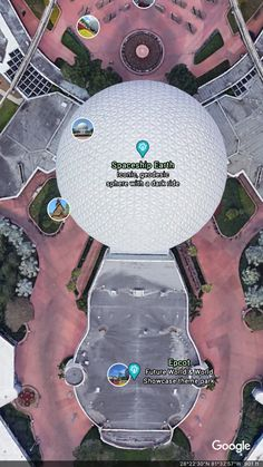Postcard from Google Earth Google Earth Images, Geodesic Sphere, Spaceship Earth, Epcot, Poster, Billboard