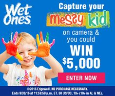 Tri Cities On A Dime: Wet Ones - Messiest Kid In America Contest - $5,00...