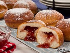 Homemade Jelly Donuts - All you need are 4 simple ingredients to get one tasty breakfast!