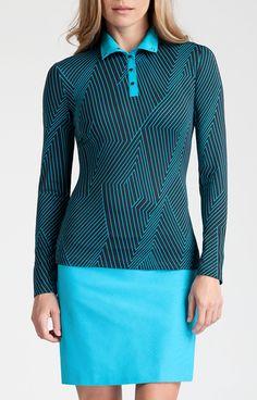 Kim Top - Blaze - Instant Spark for Golf - Tail Activewear - Women's Golf Apparel