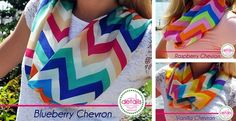 Colorful Chevron Infinity Scarves!