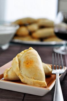 "Beef and Potato Empanadas ~ ""Empanadas are my favorite thing to make. Not because they are easy, because yes they are, but because the possibilities are endless. You can fill them with anything your heart desires and the best part is they are portable. A food on the go, all wrapped up in an edible envelope."""