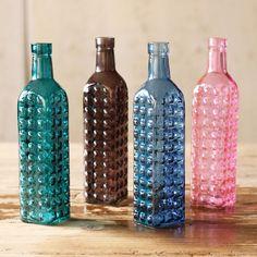 Bubbly Color Bottle Vase - Set of 4 | dotandbo.com