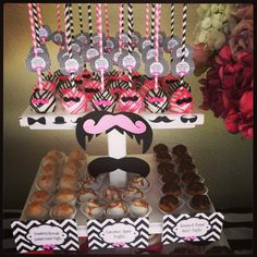 Mustache Girls Bday Party Dessert Table I designed this past weekend . Designed by me , SC Events By Jennifer . Desserts by Jillian Ward owner of Bon AppeSweet Desserts .