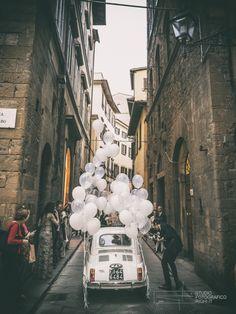 Wedding in Tuscany #fiat #500 #italiandesign