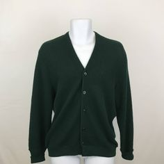 Vintage Arnold Palmer Cardigan Sweater Men's L, Green Golf Sweater by Robert Bruce, Green Preppy Cardigan, Grandpa Sweater, Made in USA by UniqueTreasuresPA on Etsy
