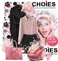 """""""SHOP - CHOIES"""" by ladymargaret ❤ liked on Polyvore"""