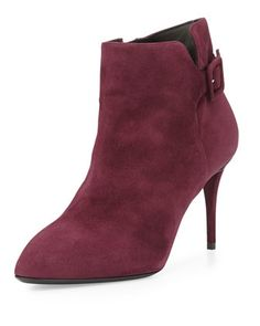 Side-Buckle Suede Ankle Boot, Ametista by Giuseppe Zanotti at Neiman Marcus.