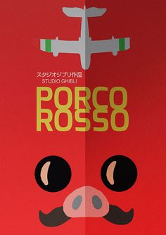 Porco Rosso - Hayao Miyazaki - Alternative Cartoon Poster by Stefano Reves, via Flickr