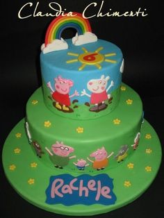 Peppa Pig Cake Ideas - Family & Friends Cake Birthday Party Cake, Peppa Pig, George Pig, Daddy Pig, Mummy Pig, Suzy Sheep, Rebecca Rabbit, Danny Dog, Emily Elephant, Candy Cat, Delphine Donkey, Zoe Zebra, Muddy Puddle, Grandpa Pig, Granny Pig