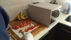 Dehydrator time for the chillies