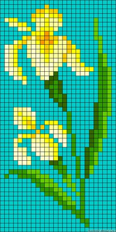 Daffodil cross stitch.