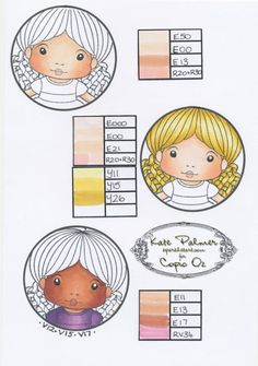 copic oz: Copic Technique Journal #2 Skin Swatches