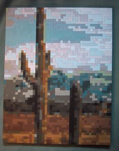 Hey, I found this really awesome Etsy listing at https://www.etsy.com/listing/352046/original-mosaic-desert-painting
