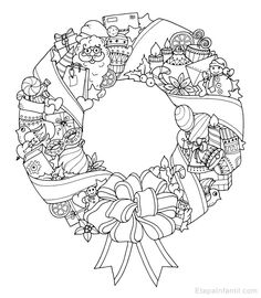 ) s Fotos – Livre de coloriages - Malvorlagen Mandala Christmas Coloring Sheets, Printable Christmas Coloring Pages, Easter Coloring Pages, Printable Adult Coloring Pages, Coloring Pages To Print, Coloring Book Pages, Free Coloring, Christmas Colors, Christmas Wreaths