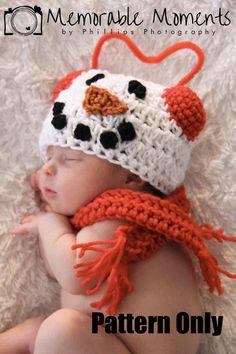 CROCHET HAT PATTERN: Snowboy (newborn-adult).