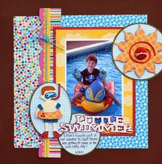 Little Swimmer Cricut layout by Aphra Bolyer using H2O & Pack Your Bags cartridges