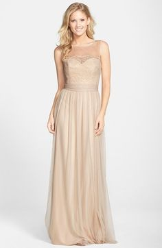 Amsale Lace & Tulle Gown available at #Nordstrom