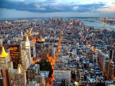Manhattan from Empire State Building, @onelifeintravel, Twitter