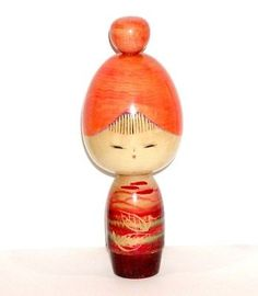 SIGNED JAPANESE ASIAN WOOD KOKESHI DOLL BEAUTIFUL AUTUMN GIRL BY NORIO TAKEDA !