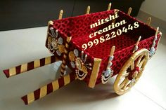 Decorative cart for dry fruits, wedding card ,make up gifts.....etc