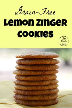 Grain Free Lemon Zinger Cookies - Life Made Full www.lifemadefull.com