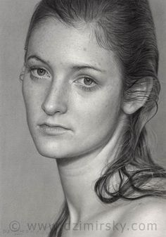 Realistic Pencil Drawings : Photorealism junkies, you'll be happy to know we've struck gold with Dirk Dzimirsky, a German artist who can render reality like you Beautiful Pencil Drawings, Realistic Pencil Drawings, Graphite Drawings, Amazing Drawings, Pencil Portrait, Portrait Art, Woman Portrait, Dirk Dzimirsky, Selling Art Online