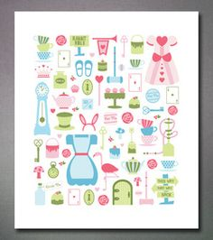Fun and graphic prints by Flowers in May. Alice in the Wonderland.