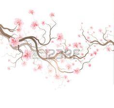 fleur de cerisier: Conception de fond avec l'arbre de Sakura