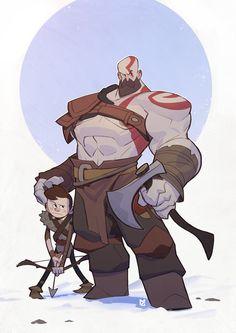 Kratos, Max Grecke on ArtStation at https://www.artstation.com/artwork/m1Bzd