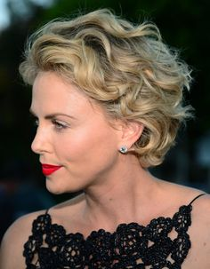 Charlize Theron Short Curls, love the colour, needs to be a bit longer but the shape is perfect