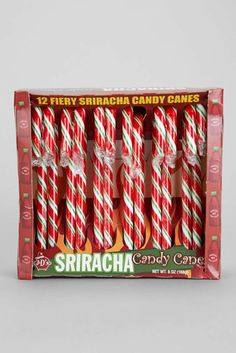Know someone who likes it hot? Stray from the same-old, same-old candy canes and add some spice to the holidays with these Sriracha candy canes. $8 at urbanoutfitters.com.