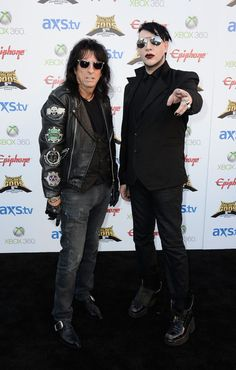 Marilyn Manson Photos Photos - Musicians Alice Cooper and Marilyn Manson arrive at the Annual Revolver Golden Gods Award Show at Club Nokia on May 2013 in Los Angeles, California. - Arrivals at the Revolver Golden Gods Award Show Steven Tyler, Aerosmith, Heavy Metal, Kirk Gibson, Charles Manson, Joe Perry, Gene Simmons, Alice Cooper, Thing 1