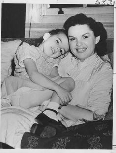 Judy Garland with daughter Liza Minnelli