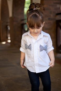 Adorable Bow Pockets - Bookworm Button Up Sewing Pattern for Boys and Girls - Blank Slate Patterns