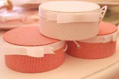cartonage mini round boxes