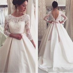 Lace Backless Wedding Dresses,Wedding Dress,Custom Made Wedding Gown #backlessweddingdresses