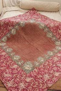 Antique French Pique Provence Quilt c1870 Pieced Textile Fichu Center   eBay