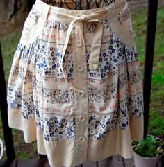 Boho Chic Full Circle Knee Length Skirt size by CoziDivaBoutique, $20.00