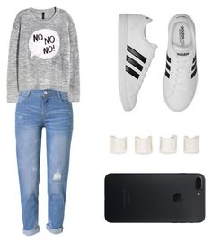 """Untitled #324"" by mindongalsxy ❤ liked on Polyvore featuring WithChic, H&M, adidas and Maison Margiela"