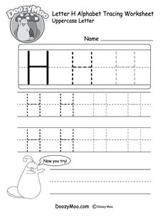 Kids Can Trace The Capital Letter H In Different Sizes In This Free Printable There Is Also A S Tracing Worksheets Tracing Worksheets Free Letter H Worksheets Printable alphabet tracing worksheets h