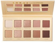 LORAC Unzipped Palette: a less glittery alternative to the Naked 3 palette. Buttery eyeshadow with no fallout.