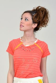 T-SHIRT ARIEL en coton, brodé main, Made in France, signé Mars loves her. www.chezvanessa.com