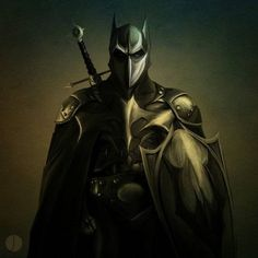 Estas ilustraciones nos muestran diferentes diseños de Batman en los que forma parte de otros periodos históricos