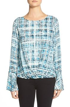 Vince Camuto Flutter Cuff Pleat Front Blouse available at #Nordstrom